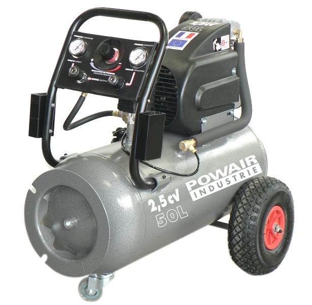 Compresseur coaxial 50 L 13,8m3, 2.5 CV