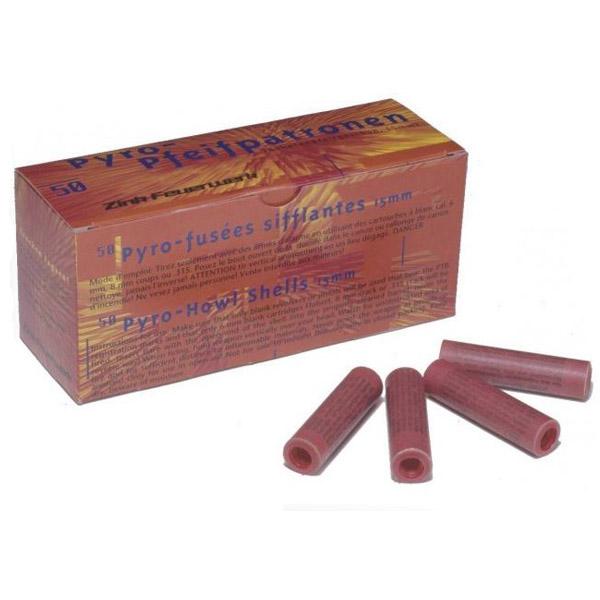 Boîte de 50 fusées sifflantes rouges, portée 75 mètres