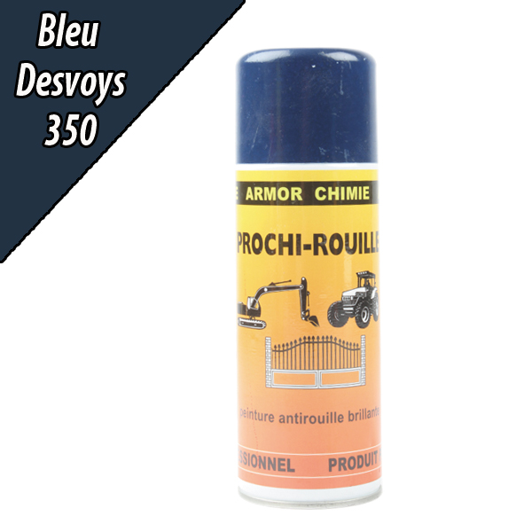 Peinture agricole PROCHI- ROUILLE brillante, bleu, 350, DESVOYS, Aérosol 400ml