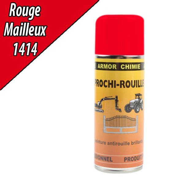 Peinture agricole PROCHI- ROUILLE brillante, rouge, 1414, MAILLEUX, Aérosol 400ml