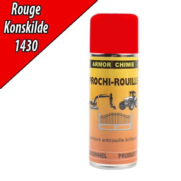 Peinture agricole PROCHI- ROUILLE brillante, rouge, 1430, KONGSKILDE, Aérosol 400ml