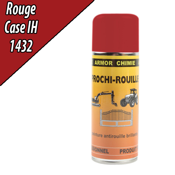 Peinture agricole PROCHI- ROUILLE brillante, rouge, 1432, CASE IH, Aérosol 400ml