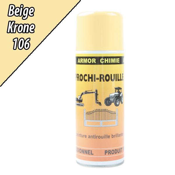 Peinture antirouille agricole beige 106 pour machine krone a rosol 400ml - Bombe anti rouille ...