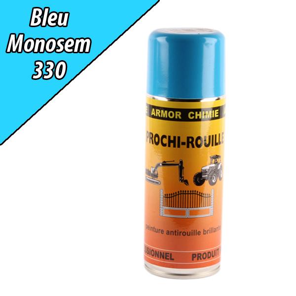 Peinture agricole PROCHI- ROUILLE brillante, bleu, 330, RIBOULEAU MONOSEM, Aérosol 400ml