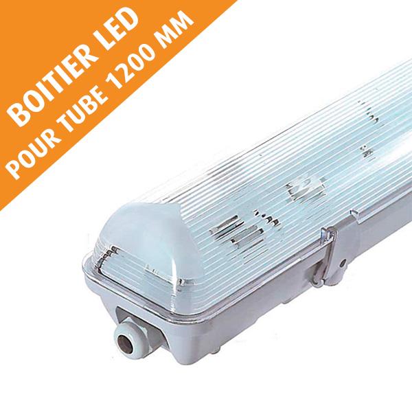 Boîtier étanche LED sans ballast, pour tube 1200 mm