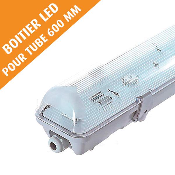 Boîtier étanche LED sans ballast, pour tube 600 mm