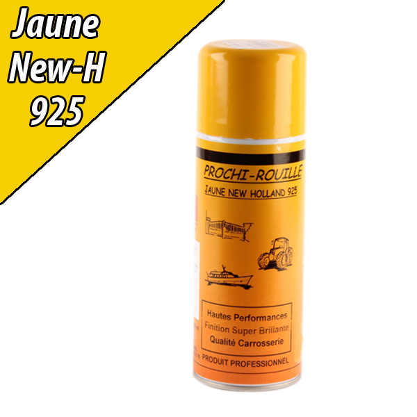 Peinture agricole PROCHI- ROUILLE brillante, jaune, 925, NEW HOLLAND, Aérosol 400ml