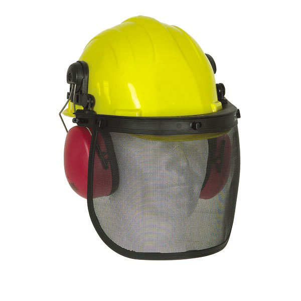 Kit forestier, casque + protection anti-bruit + visière