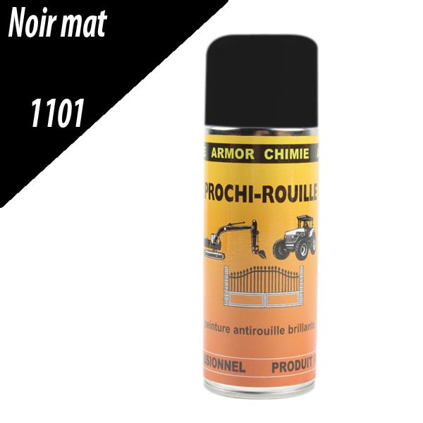 Peinture PROCHI-ROUILLE agricole mat, noir, 1101, UNIVERSEL, Aérosol 400ml