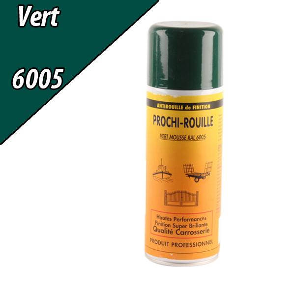 Peinture agricole PROCHI- ROUILLE brillante, vert, 6005, UNIVERSEL, Aérosol 400ml
