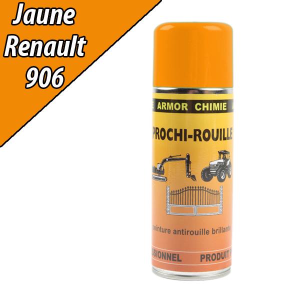Peinture agricole PROCHI- ROUILLE brillante, jaune, 906, RENAULT, Aérosol 400ml