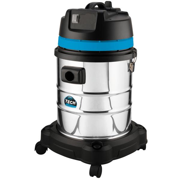 Aspirateur eau et poussières, cuve inox 40 L