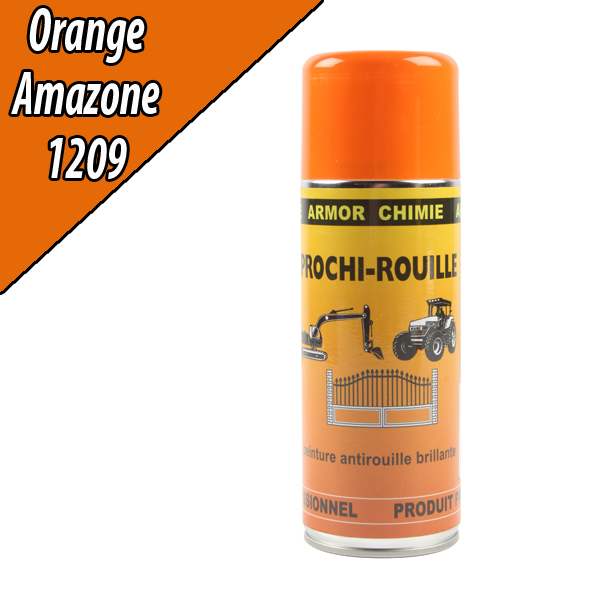 Peinture agricole PROCHI- ROUILLE brillante, orange, 1209, AMAZONE, Aérosol 400ml