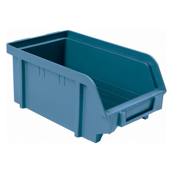 Boite à bec, 103x166x73mm, bleue, pour étagère