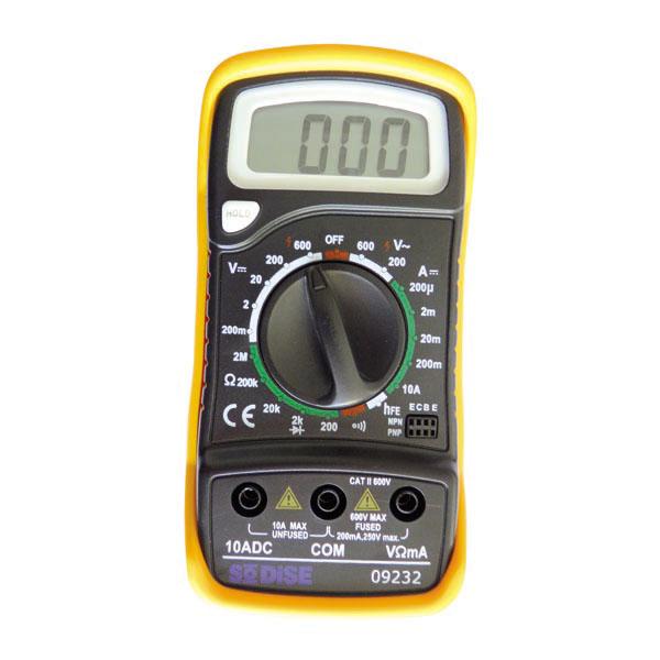 Multimètre digital anti chocs avec béquille