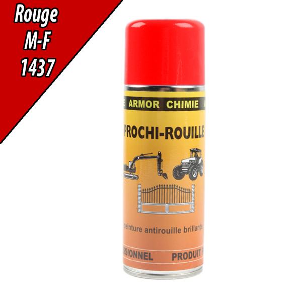 Peinture agricole PROCHI- ROUILLE brillante, rouge, 1437, MASSEY FERGUSSON, Aérosol 400ml