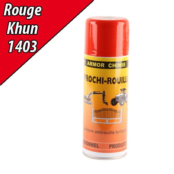 Peinture antirouille agricole rouge 1403 pour machine kuhn a rosol 400ml - Bombe anti rouille ...