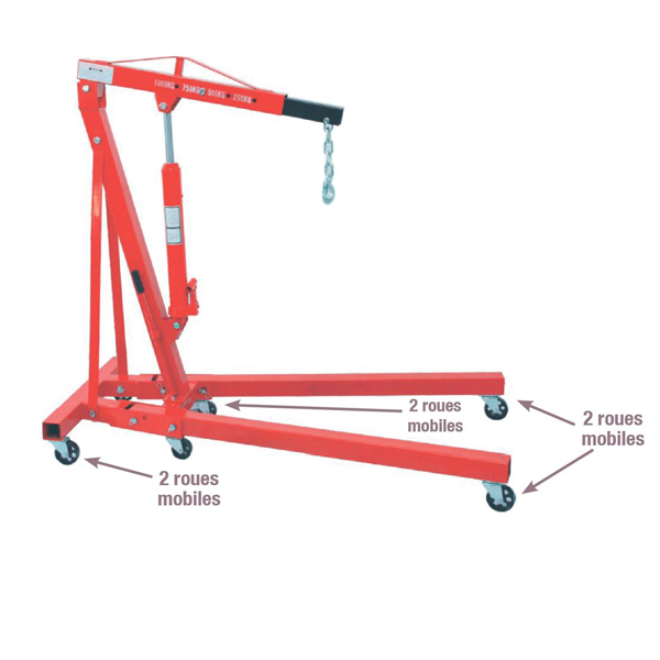 Grue d'atelier pliante 1000 kg