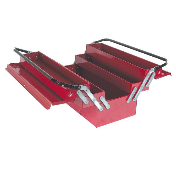 Caisse a outils métallique rouge avec 5 tiroirs
