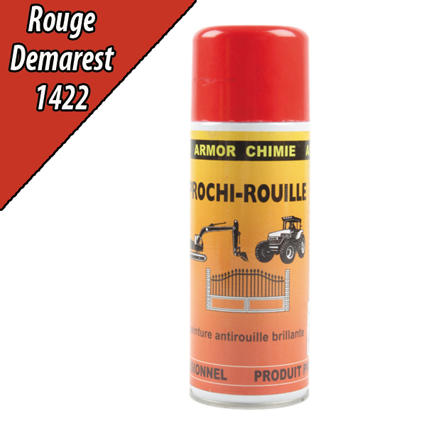 peinture antirouille agricole rouge 1422 pour machine demarest a rosol 400ml. Black Bedroom Furniture Sets. Home Design Ideas