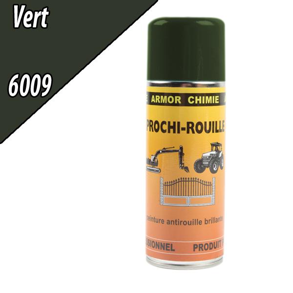 Peinture agricole PROCHI- ROUILLE brillante, vert, 6009, UNIVERSEL, Aérosol 400ml