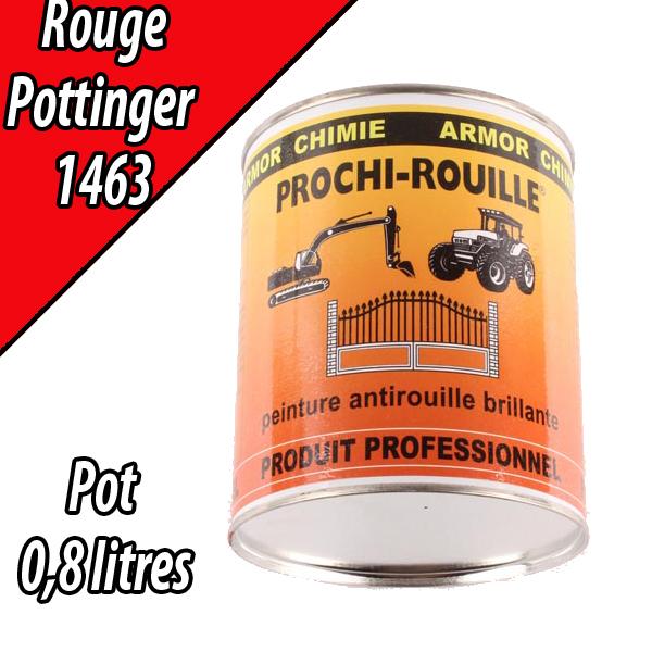 Peinture agricole PROCHI- ROUILLE brillante, rouge, 1463, POTTINGER, Pot 0,8 L