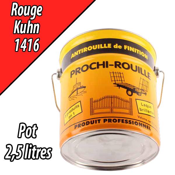 Peinture agricole PROCHI- ROUILLE brillante, rouge, 1416, KUHN, Pot 2,5 L