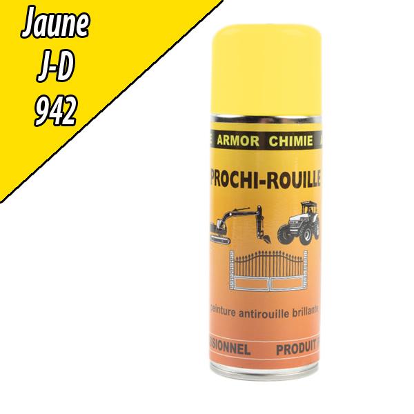 Peinture agricole PROCHI- ROUILLE brillante, jaune, 942, JOHN DEERE, Aérosol 400ml