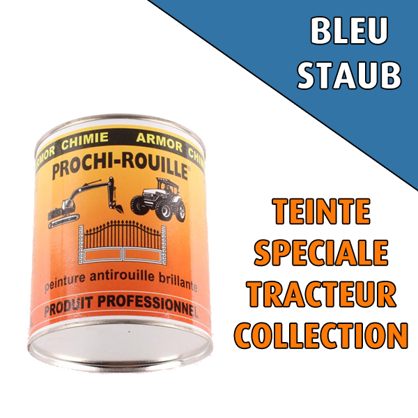Peinture agricole collection PROCHI- ROUILLE brillante, bleu, STAUB, Pot 0,8 L