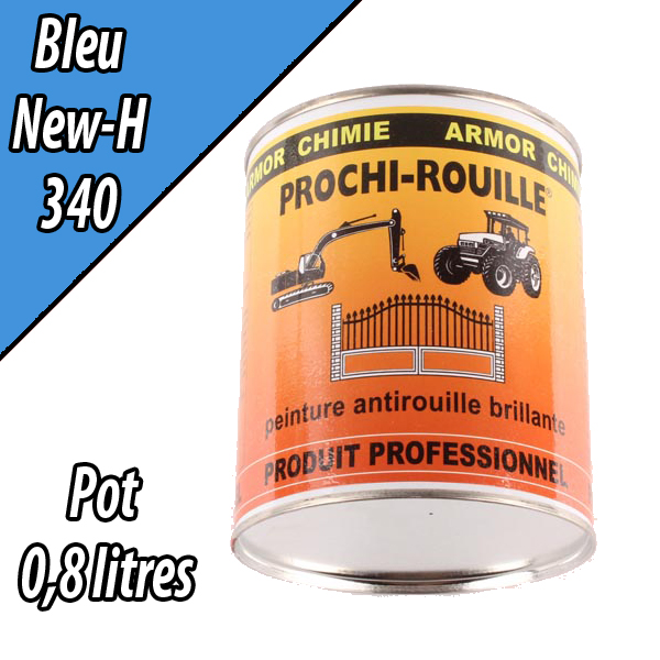 Peinture agricole PROCHI- ROUILLE brillante, bleu, 340, NEW HOLLAND, Pot 0,8 L